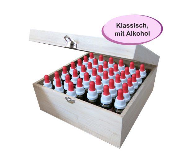 Bachblütenset mit Alkohol